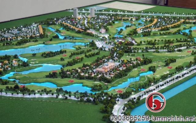 Mô hình sân golf Tân Mỹ - Long An