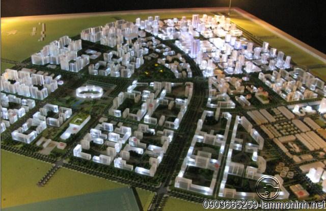 Mô hình quy hoạch TP Nhơn Trạch.