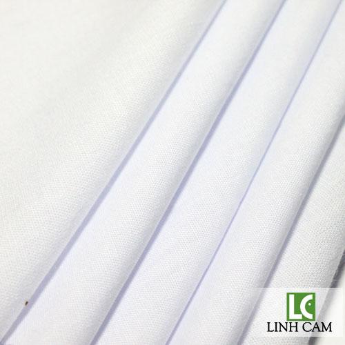 Vải kate silk trắng may áo đồng phục học sinh
