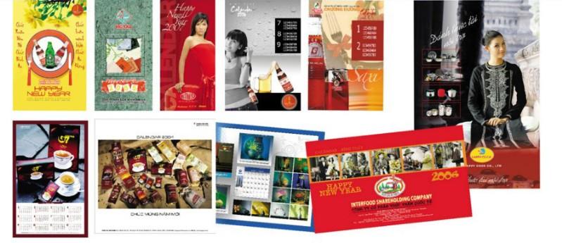 Thiết kế và in ấn lịch độc quyền