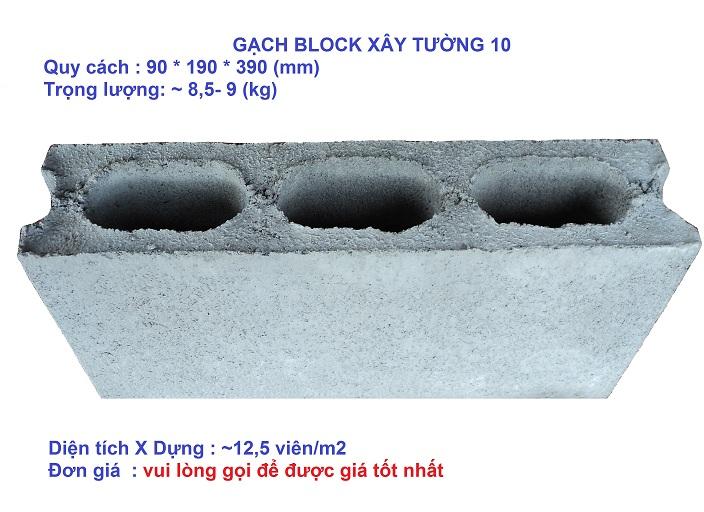 Gạch block xây tường 10