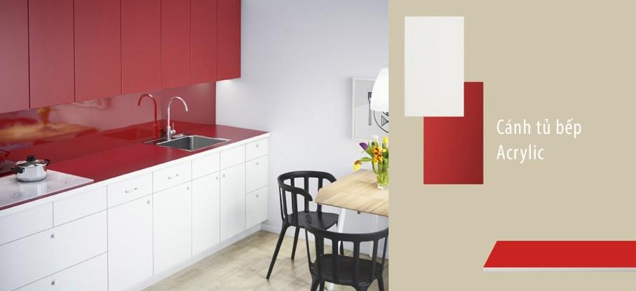 Cánh tủ bếp Acrylic