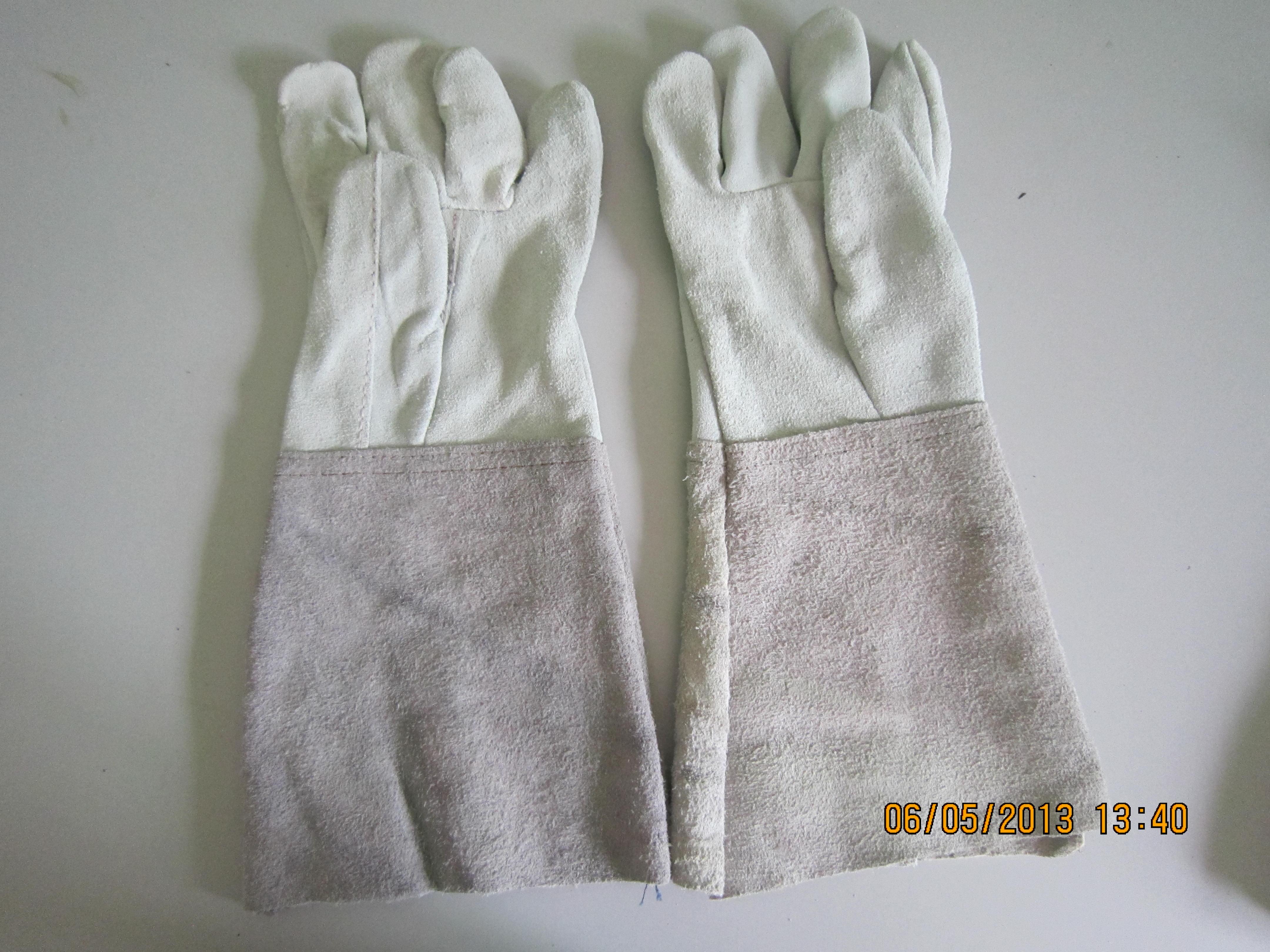 Găng tay da dài tay