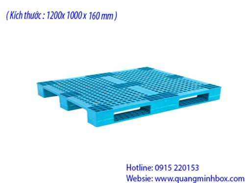 Pallet nhựa 1200x1000x160mm