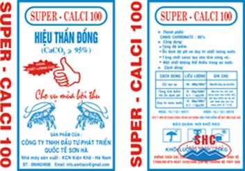 Bao thương hiệu bột super Calci