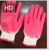 Găng tay phủ 1 mặt cao su đỏ