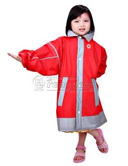 áo mưa kiểu phối tay trẻ em