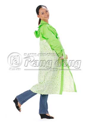 áo mưa kiểu phối tay