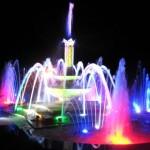 Đài phun nước màu sắc