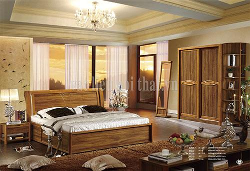Giường ngủ gỗ teak