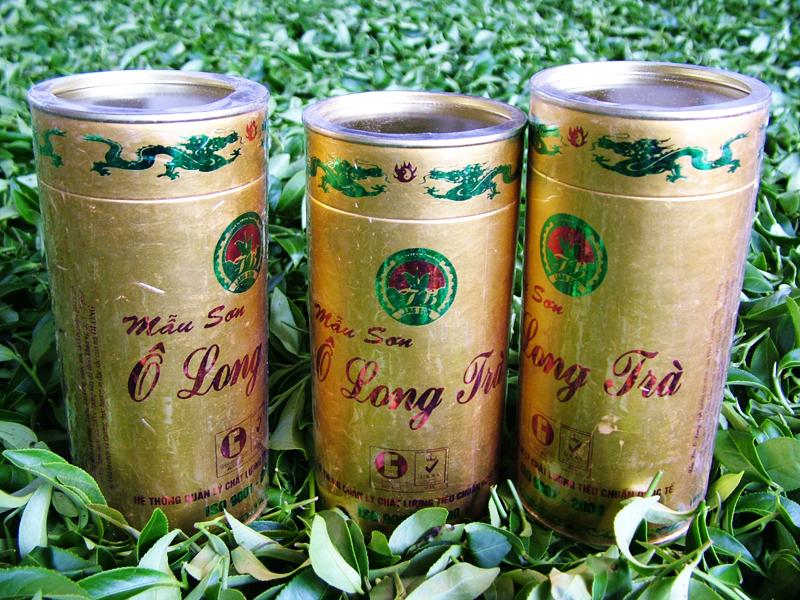 Mẫu sơn Ô Long trà hộp