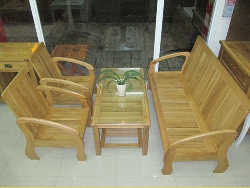 Bộ sofa gỗ sồi