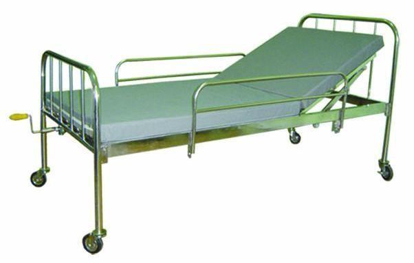 Giường y tế 1 tay quay inox