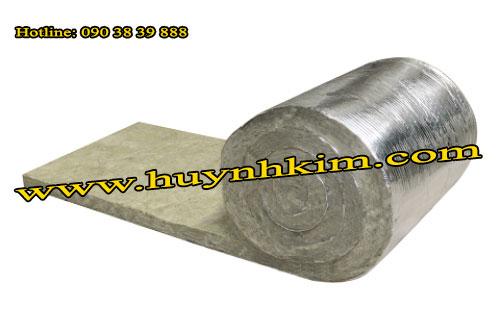 Bông khoáng cuộn có giấy bạc