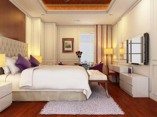 Phòng ngủ khách sạn Sanouva