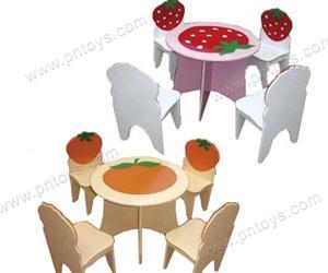 Bộ bàn ghế gỗ hình hoa