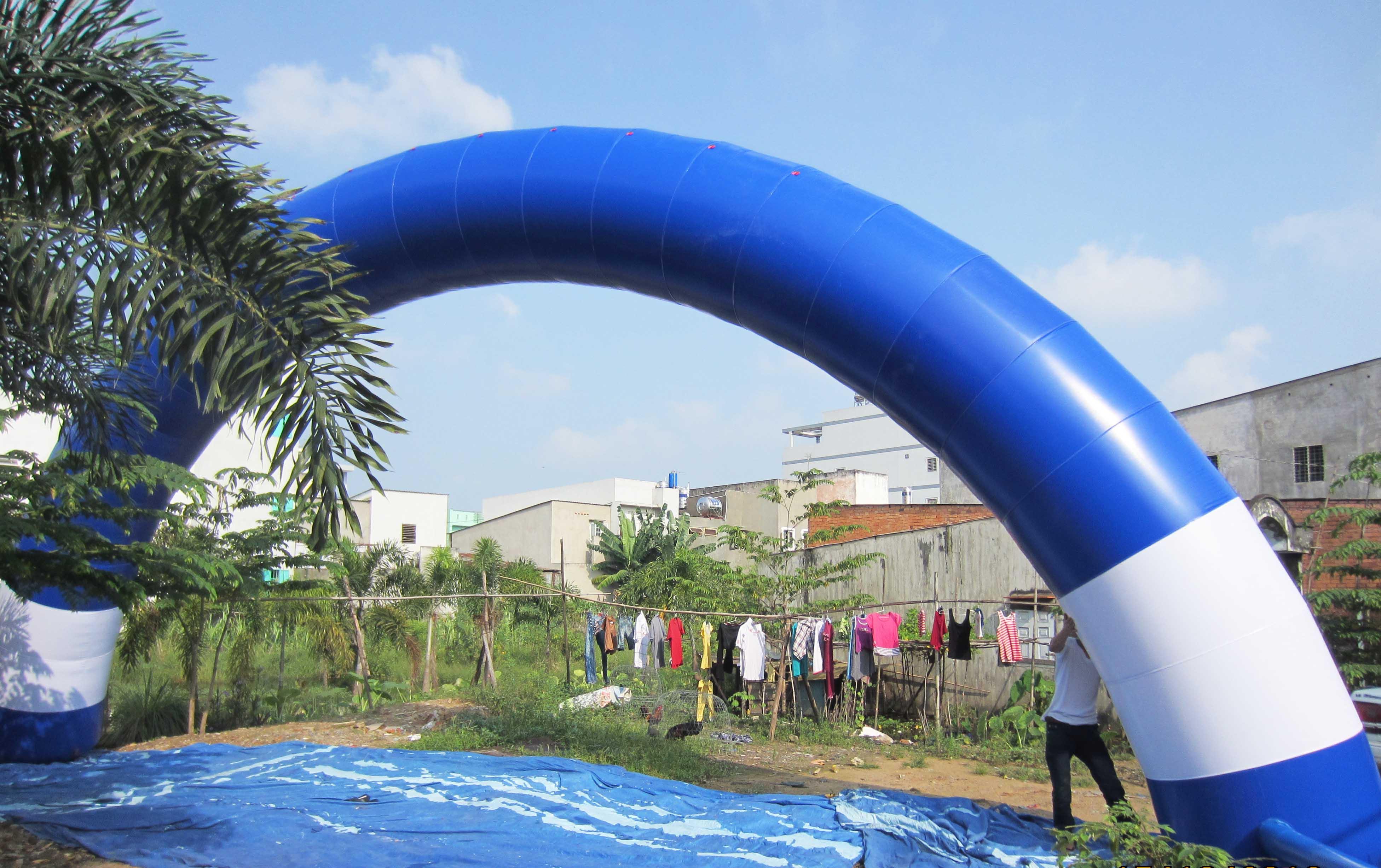Cổng tròn 12 m tráng + xanh