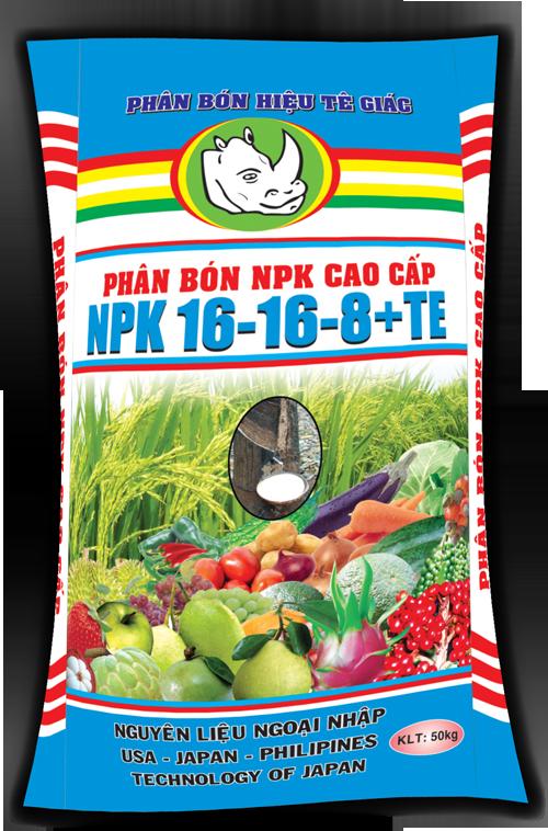 NPK cao cấp 16-16-8+TE
