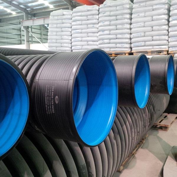 ống nhựa HDPE gân xoắn 2 lớp