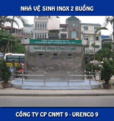 Nhà vệ sinh Inox 2 buồng