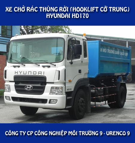Xe chở rác thùng rời Hyundai