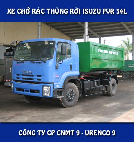 Xe chở rác thùng rời Isuzu
