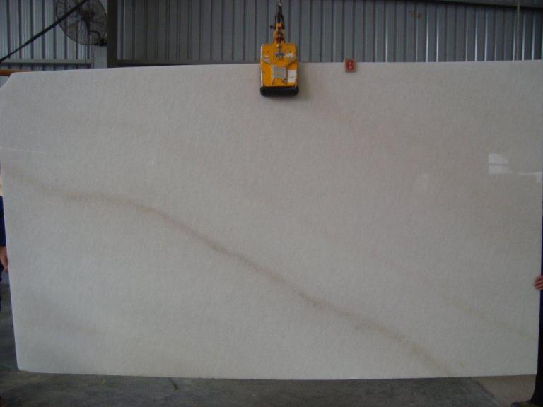 book match design white marble slab