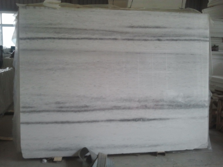 strip vain white marble slab