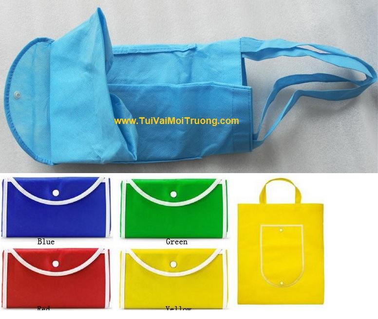 Túi vải không dệt gấp xếp