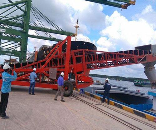 Băng tải nông sản lên tàu