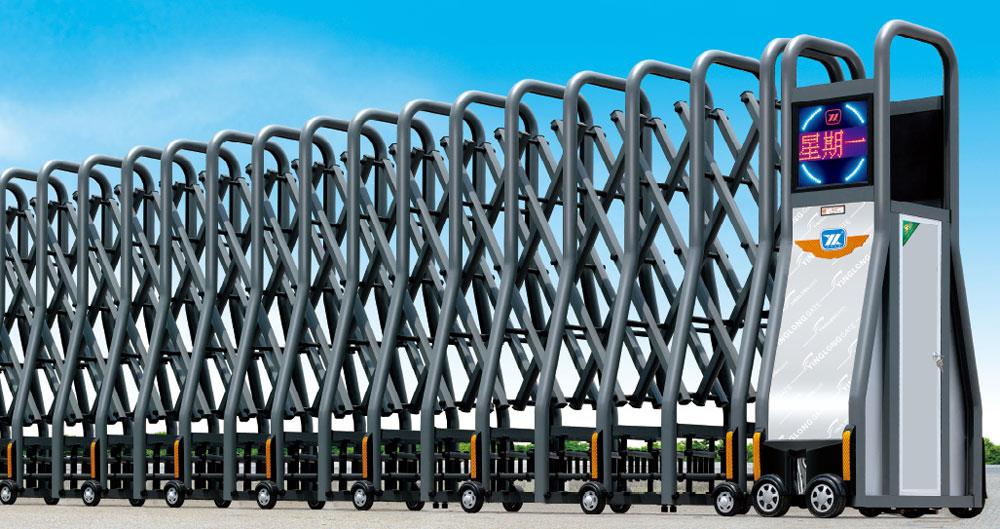 Cổng xếp hợp kim tự động