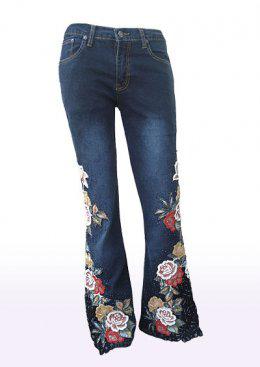 Thêu trên vải jean
