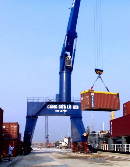 Thiết bị nâng hạ container