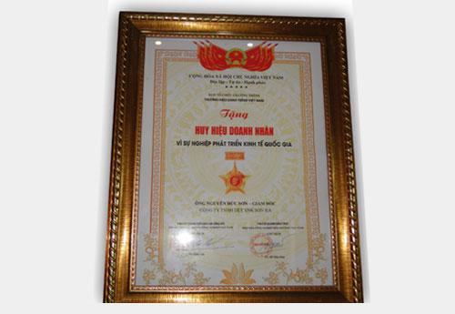 Huy hiệu doanh nhân vì sự nghiệp quốc gia