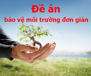 Đề án bảo vệ môi trường