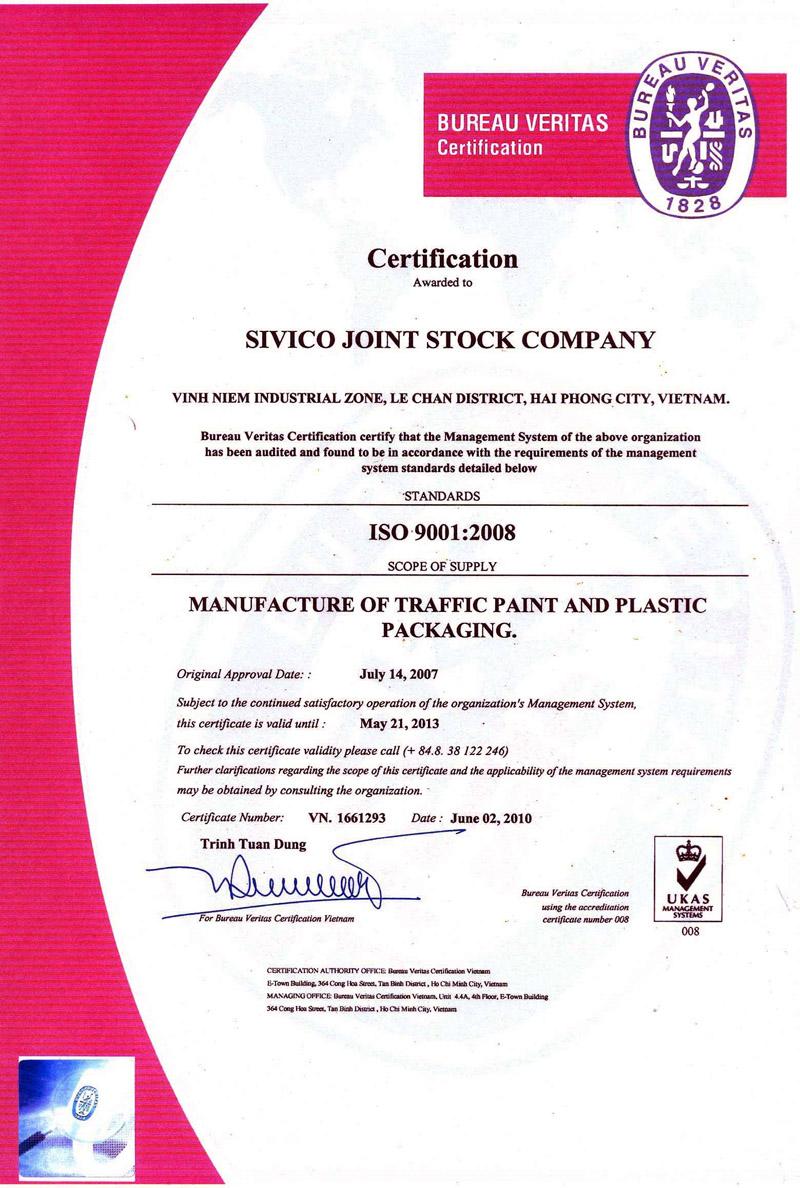 Chứng nhận hệ thống QLCL 9001:2008