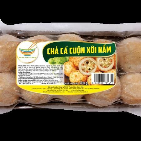 Chả cá cuộn xôi nấm