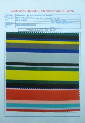 Vải LG - Kaki in sọc