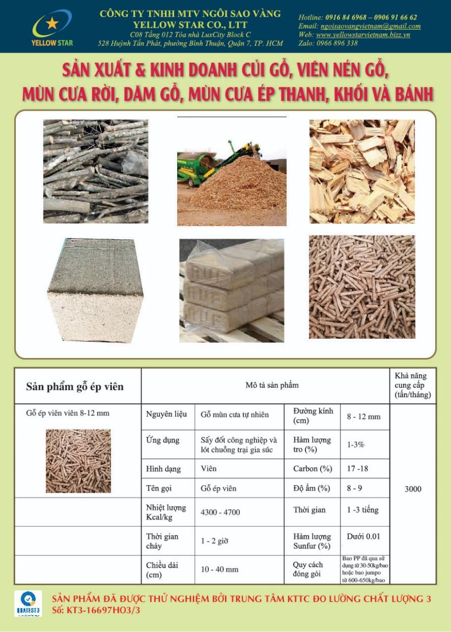 Sản xuất Viên nén gỗ