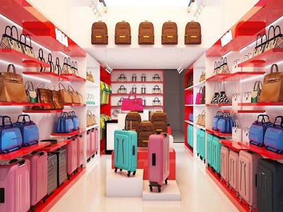 Kệ trưng bày cho Shop Vali, túi xách