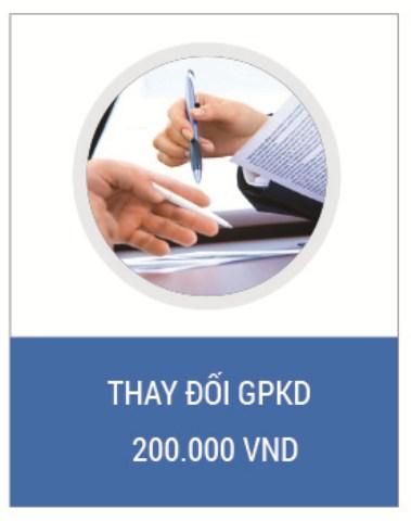 Dịch vụ thay đổi GPKD