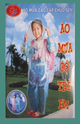 áo mưa bộ mỏng trẻ em siêu bền