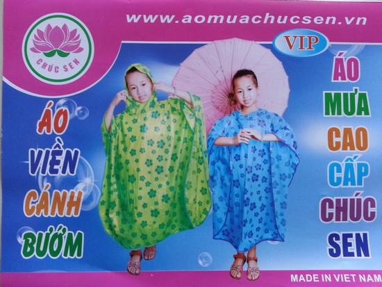 áo mưa choàng cánh bướm trẻ em