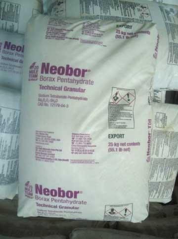 Na2B4O7.5H2O-Borax