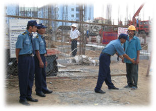Công trường xây dựng tại trường chuyên TP Bắc Ninh
