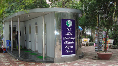 Nhà vệ sinh công cộng bằng thép