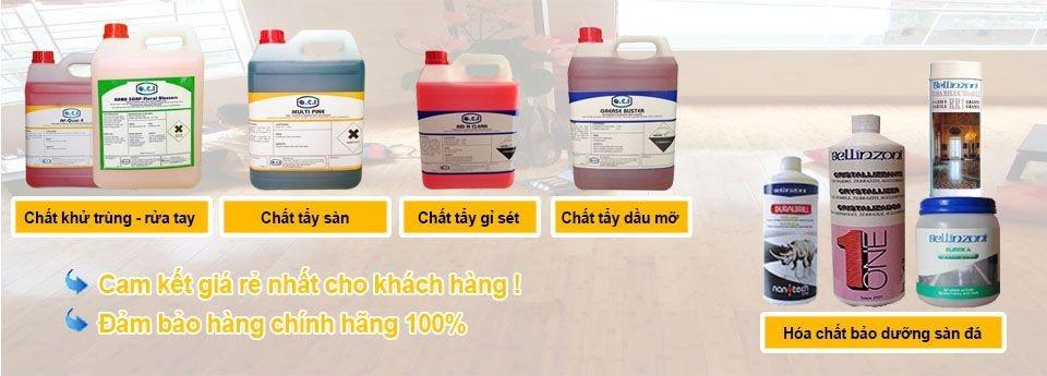 Hoá chất vệ sinh công nghiệp.