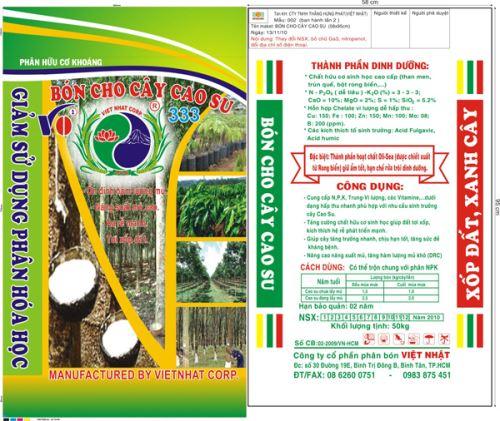Phân hữu cơ khoáng bón cho cây cao su
