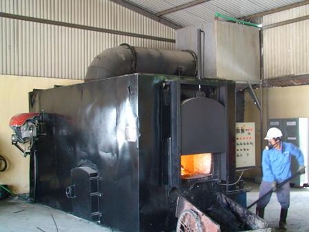 Lò đốt 2 cấp có hệ thống xử lý khói thải