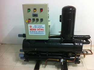 Cụm máy Chiller giải nhiệt nước 15HP